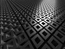 Abstract Dark Metallic Silver Cubes Background Royalty Free Stock Photos