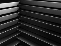 Abstract Dark Metallic Stripes Wall Background Royalty Free Stock Photography
