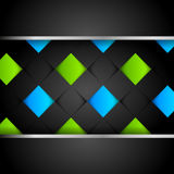 Abstract dark modern background. With colorful squares Royalty Free Stock Photo