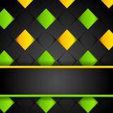 Abstract dark modern background. With colorful squares Royalty Free Stock Image