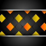 Abstract dark modern background. With colorful squares Stock Photography