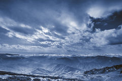 Abstract dark mountain landscape. Stock Images
