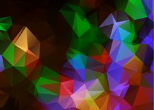 Abstract Dark Multicolor geometric rumpled triangular low poly origami style gradient illustration graphic background. Vector poly. Gonal design for your royalty free illustration