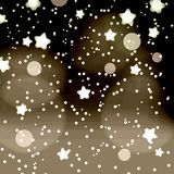 Abstract dark night dots and stars retro bokeh background eps10 Royalty Free Stock Photos