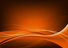 Dark orange background with smooth lines. Abstract dark orange background with flowing lines Stock Photography