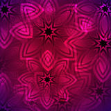 Abstract dark pink background with a floral pattern in oriental style. Vector Royalty Free Stock Images