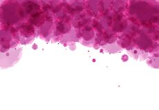 Imitation of watercolor stains. Abstract dark pink background with imitation watercolor stains Stock Photos