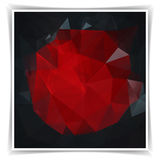 Abstract Dark Polygonal background Stock Image