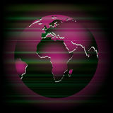 Abstract dark purple background with globe Royalty Free Stock Images