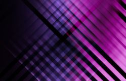 Abstract dark purple digital background. Geometric pattern with intersected glowing stripes. 3d render illustration Stock Photography