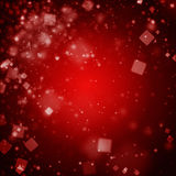 Abstract dark red background with square bokeh defocused lights Royalty Free Stock Images