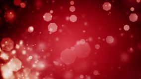 Abstract dark red Christmas background with bokeh defocused lights. High quality 20 seconds looping animation of abstract dark red Christmas background with stock video