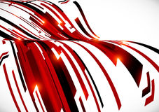 Abstract dark red curves vector background Stock Images