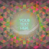 Abstract dark red and green design with your text here and colored triangles Stock Image