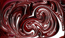 Abstract dark red isolated distorted swirls & curves. Red round swirls Stock Photography