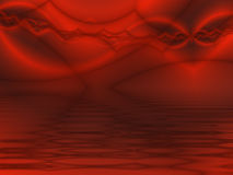 Abstract Dark Red Landscape Background Royalty Free Stock Image