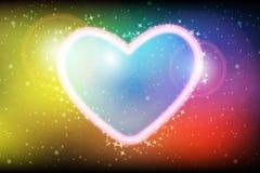Abstract Dark Romantic Colorful Bokeh Vector Background. Glittering abstract colorful  background Royalty Free Stock Image