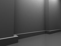Abstract Dark Room Design Background. 3d Render Illustration Royalty Free Stock Photo