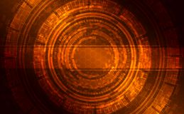 Abstract dark shining technical background. Abstract dark shining technical background gold, orange, braun with Strip for Text Stock Photography