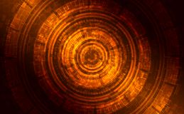 Abstract dark shining technical background. Gold, orange, braun Stock Images