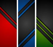 Abstract dark tech banners Royalty Free Stock Photos