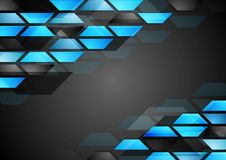 Abstract dark technology corporate background Royalty Free Stock Photos