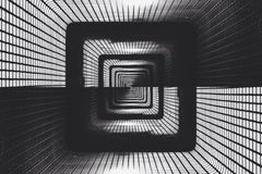 Abstract dark tunnel. Interior Royalty Free Stock Photos
