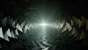 Abstract dark tunnel with light. In backgrounds stock video footage