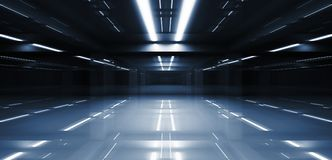 Abstract dark tunnel perspective 3d Royalty Free Stock Images