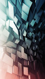 Abstract dark vertical digital pattern Stock Photo