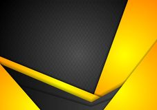 Abstract dark yellow corporate background Royalty Free Stock Photos