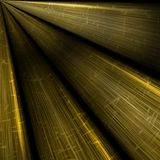 Abstract dark yellow rays background Stock Images