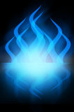 Abstract darkBlue Fire Royalty Free Stock Photography