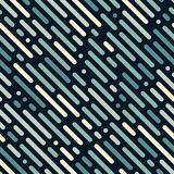 Abstract dashed lines seamless diagonal pattern. Vector backgrou stock illustration
