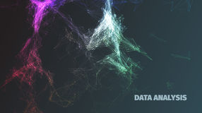 Abstract data analysis structure diagram. For banners Stock Image