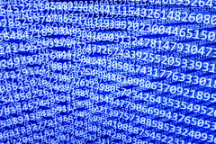Abstract data bits stream background. Stock Photo