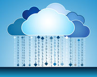 Abstract data cloud illustration Royalty Free Stock Image