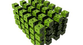Abstract Data Cubes. Abstract cubes organized into a bigger cube, representing data analysis, data mining, data repository Stock Photography