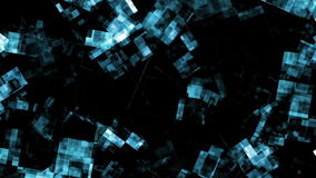 Abstract data forms flicker and pulse - Video Background 2289 HD stock illustration