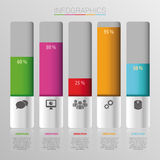 Abstract data percent infographic. Vector illustration Stock Photography