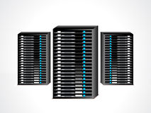 Abstract data server set Stock Image