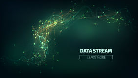 Abstract data stream  background. Technology futuristic illustration. Network connection. Abstract data stream  illustration. Technology futuristic background Royalty Free Stock Photography