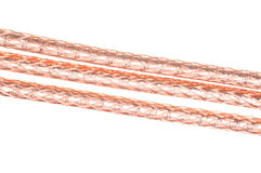 Abstract data transmission, stripped cable Royalty Free Stock Image