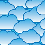 Abstract day clouds background Royalty Free Stock Photography