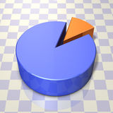 Abstract 3DCG illustration that represents the pie chart Royalty Free Stock Images