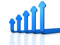 Abstract 3DCG illustration showing upward trend. Stock Image