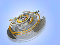 Abstract 3DCG illustrations representing the data center Royalty Free Stock Images