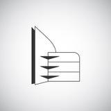 Abstract de architectuurbouw het ontwerpmalplaatje van het silhouetembleem Van bedrijfs wolkenkrabberonroerende goederen themapic stock illustratie