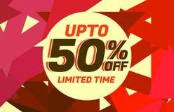 Abstract de bonontwerp van de verkoopkorting met warme kleuren Royalty-vrije Stock Afbeeldingen