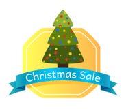 Abstract de Boomembleem van de Kerstmisverkoop Stock Foto's